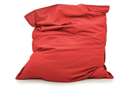 Your Basics zitzakken | Stoffen loungekussens - in 13 kleuren  Rood