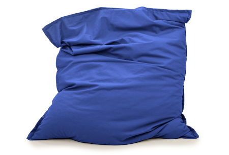 Your Basics zitzakken | Stoffen loungekussens - in 13 kleuren  Blauw