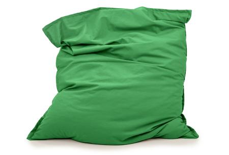 Your Basics zitzakken | Stoffen loungekussens - in 13 kleuren  Groen
