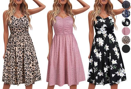Spaghetti dress | Mouwloze zomerjurk in 6 prints