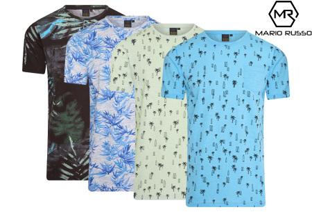 Mario Russo printed T-shirts | Herenshirts met zomerse print - 100% katoen