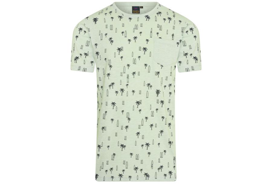 Mario Russo printed T-shirts Maat 2XL - Surf - Groen