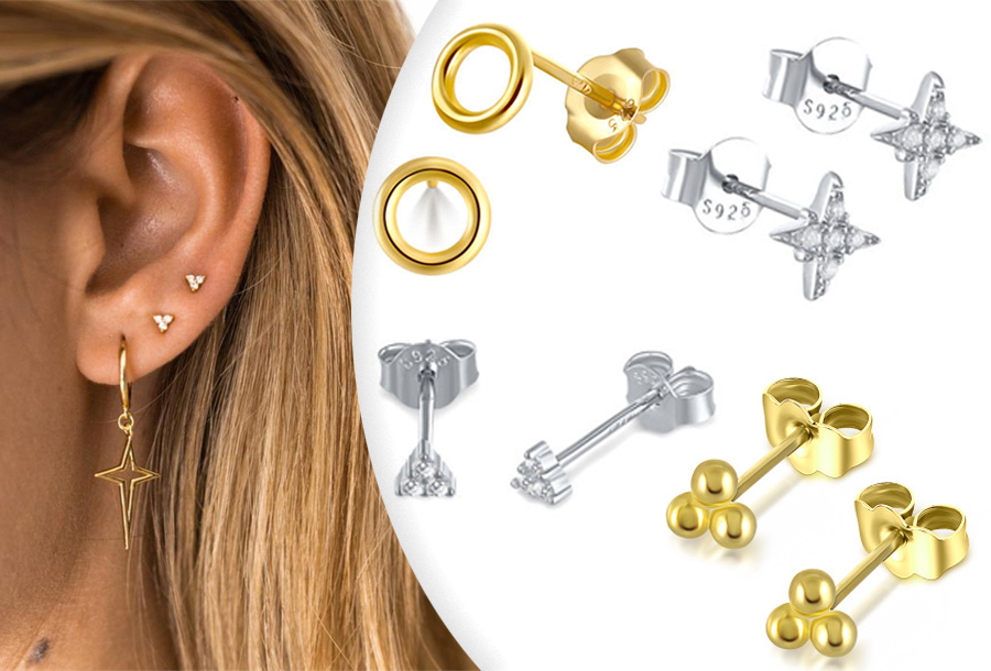Goud- en zilverkleurige oorbellen te koop