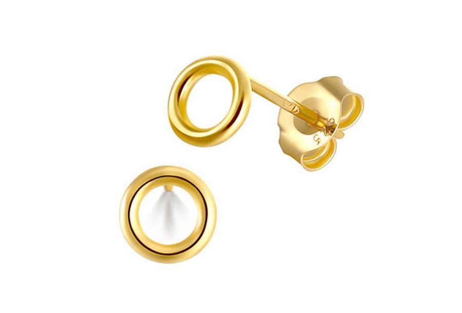 Goud- en zilverkleurige oorbellen Goudkleurig - A - Cirkel