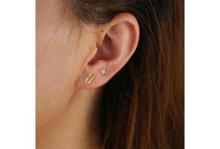 Goud- en zilverkleurige oorbellen | Van 925 Sterling Silver - in 4 minimalistische varianten