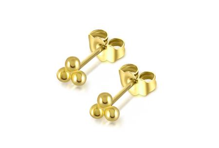 Goud- en zilverkleurige oorbellen | Van 925 Sterling Silver - in 4 minimalistische varianten D - Goudkleurig