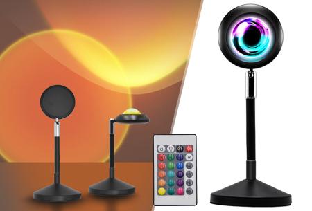 Sunset tafellamp   Unieke sfeerlamp met 16 verschillende kleuren