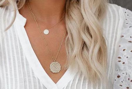 Broderie blouse voor dames | Prachtige linnenlook blouse met opengewerkte korte mouwen