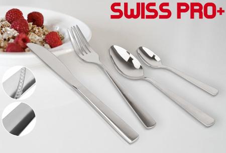 Swiss Pro+ bestekset 24-delig | Luxe zilverkleurig bestek van topkwaliteit