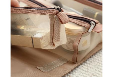 Opvouwbare toilettas voor dames | Handig tasje voor je make-up en toiletspullen