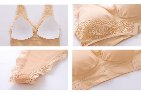 Cross Lace bh | Comfortabele bralette met gekruist kanten detail - in 8 kleuren