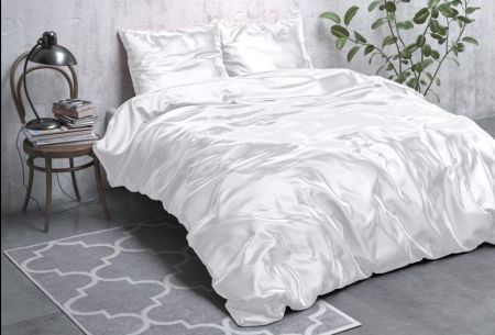 Satijnen Beauty dekbedovertrek | Prachtig luxe overtrek dat goed is voor huid én haar! Wit