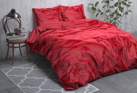 Satijnen Beauty dekbedovertrek | Prachtig luxe overtrek dat goed is voor huid én haar! Rood