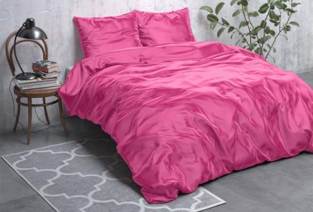 Satijnen Beauty dekbedovertrek | Prachtig luxe overtrek dat goed is voor huid én haar! Hot pink
