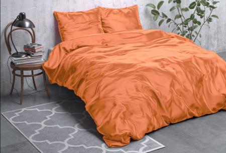 Satijnen Beauty dekbedovertrek | Prachtig luxe overtrek dat goed is voor huid én haar! Oranje