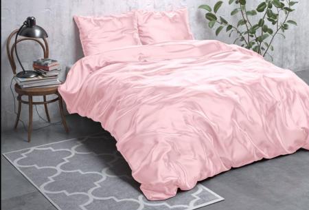Satijnen Beauty dekbedovertrek | Prachtig luxe overtrek dat goed is voor huid én haar! Roze
