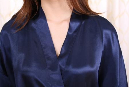 Satijnen kimono voor dames | Korte badjas voor een sexy look