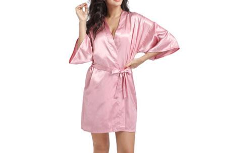 Satijnen kimono voor dames | Korte badjas voor een sexy look Roze