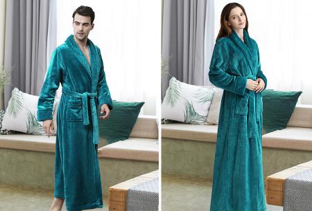Badjas   Heerlijk zacht en comfortabel - Voor hem en haar - Kies uit 6 kleuren!  Blauw