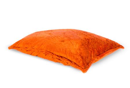 Furry zitzak van Your Basics | Keuze uit 17 kleuren en 3 modellen in diverse maten Oranje - loungekussen