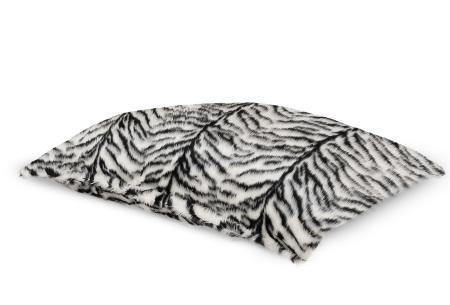 Furry zitzak van Your Basics | Keuze uit 17 kleuren en 3 modellen in diverse maten Zebra  - loungekussen