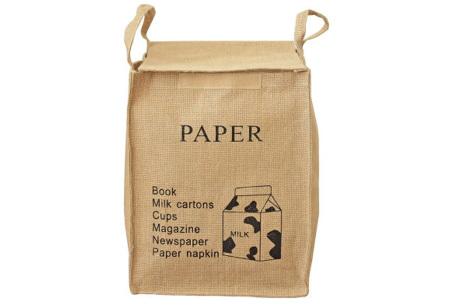 Recycle- en waszakken | Opbergzakken van een stevige katoenmix Paper