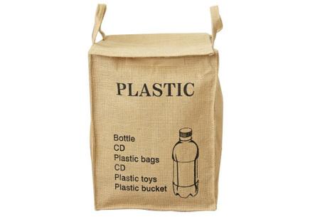 Recycle- en waszakken | Opbergzakken van een stevige katoenmix Plastic
