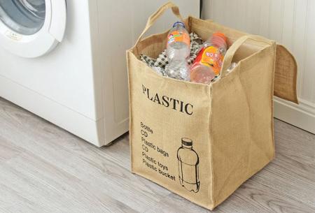 Recycle- en waszakken | Opbergzakken van een stevige katoenmix