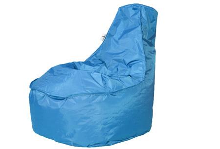 NOA zitzak stoel van Your Basics   Keuze uit 2 formaten en 24 kleuren Turquoise