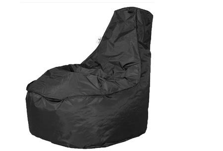 NOA zitzak stoel van Your Basics   Keuze uit 2 formaten en 24 kleuren Zwart