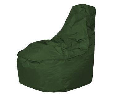 NOA zitzak stoel van Your Basics   Keuze uit 2 formaten en 24 kleuren Army groen