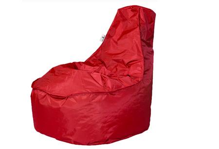 NOA zitzak stoel van Your Basics   Keuze uit 2 formaten en 24 kleuren Rood