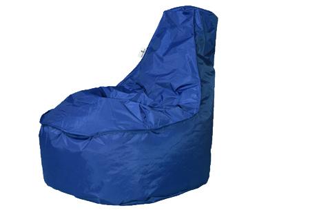 NOA zitzak stoel van Your Basics   Keuze uit 2 formaten en 24 kleuren Kobaltblauw