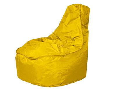 NOA zitzak stoel van Your Basics   Keuze uit 2 formaten en 24 kleuren Geel