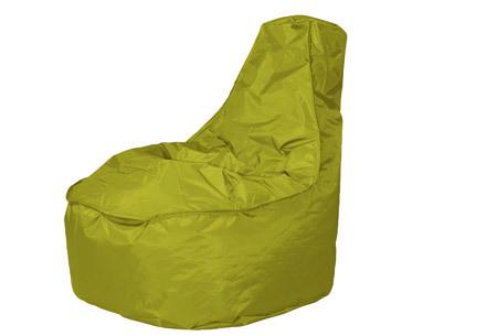 NOA zitzak stoel van Your Basics   Keuze uit 2 formaten en 24 kleuren Spring green