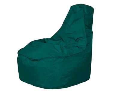 NOA zitzak stoel van Your Basics   Keuze uit 2 formaten en 24 kleuren Smaragdgroen