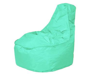 NOA zitzak stoel van Your Basics   Keuze uit 2 formaten en 24 kleuren Light aquamarine