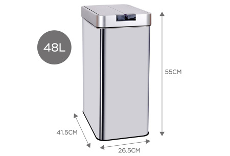TurboTronic prullenbak met sensor | Moderne én hygiënische afvalbak! 48L