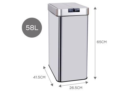 TurboTronic prullenbak met sensor | Moderne én hygiënische afvalbak! 58L