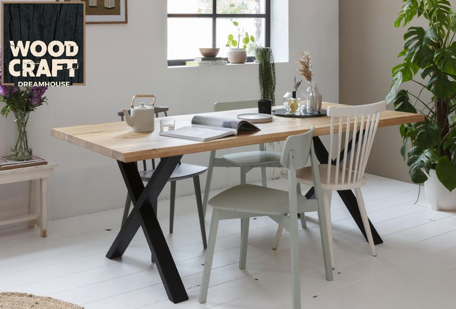 40% korting - houten tafel van Woodcraft