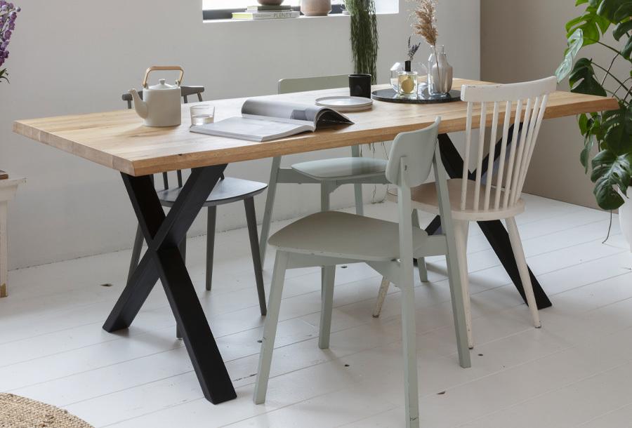 Woodcraft tafel X poot - 200 x 95 x 74 cm + montage