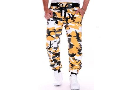 Camouflage joggingbroek voor heren   Trainingsbroek met legerprint - in 6 kleuren Geel