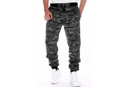 Camouflage joggingbroek voor heren   Trainingsbroek met legerprint - in 6 kleuren Grijs
