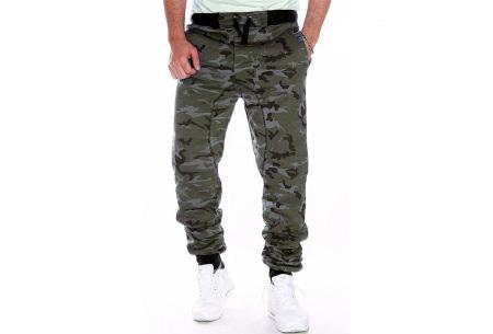 Camouflage joggingbroek voor heren   Trainingsbroek met legerprint - in 6 kleuren Groen
