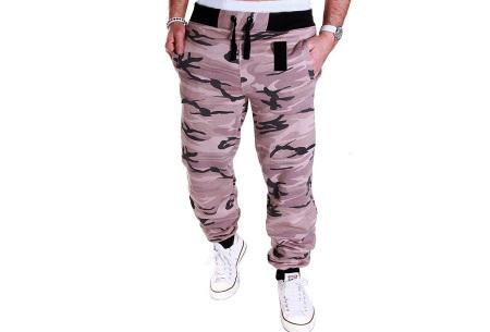 Camouflage joggingbroek voor heren   Trainingsbroek met legerprint - in 6 kleuren Roze