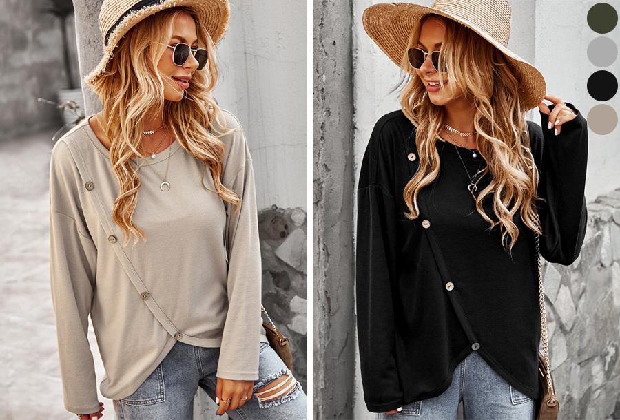 Button shirt voor dames