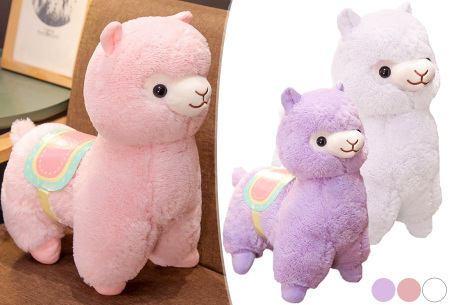 Alpaca knuffel   Schattige plushie voor alpaca fans - in 2 formaten