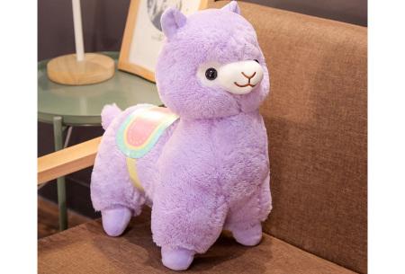 Alpaca knuffel   Schattige plushie voor alpaca fans - in 2 formaten Paars
