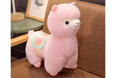 Alpaca knuffel   Schattige plushie voor alpaca fans - in 2 formaten Roze