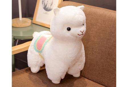 Alpaca knuffel   Schattige plushie voor alpaca fans - in 2 formaten Wit